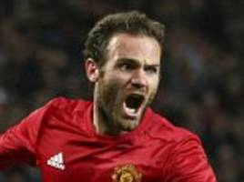 Manchester United 1-0 Manchester City: Juan Mata slots home to settle EFL Cup fourth round tie as Jose Mourinho gets revenge on old foe Pep Guardiola