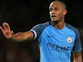 Pep Guardiola says Vincent Kompany asked him to be substituted in the first half as Manchester City captain said he was 'not ready to play second half'