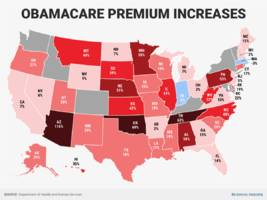 Here's how much Obamacare premiums are going up in every state (ATHN, UNH, AET, HUM)