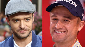 pop fans mistake scots golfer russell knox for timberlake