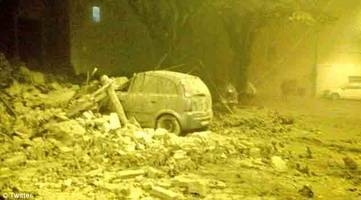 'it's apocalyptic, our town is finished - two quakes strikes italy, collapsing buildings and causing panic