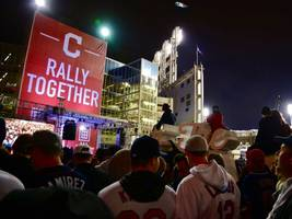 cleveland indians take game 1of the world series, beat chicago cubs 6-0