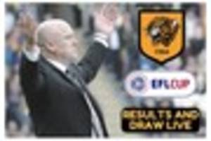 hull city efl quarter-final draw and results live