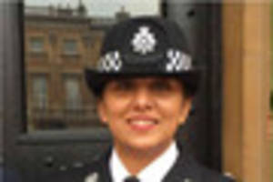 notts' first asian female inspector handed mbe by the queen
