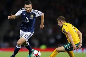 Scotland star Robert Snodgrass refusing to rule himself out of Wembley clash against England