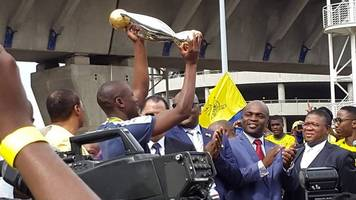 Mamelodi Sundowns receive heroes' welcome upon South Africa return