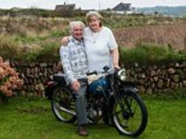 Couple who fled to Scotland to marry 60 years ago discovered they had accidentally bought back the motorbike they eloped on when they found their love note in the engine