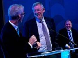 Sir Alex Ferguson thinks Manchester City are favourites to win the Premier League... but does not see Chelsea as title contenders