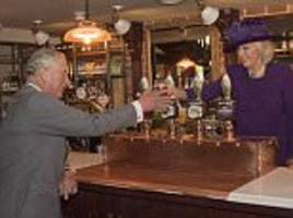prince charles takes the queen and duke of edinburgh to waitrose then the pub