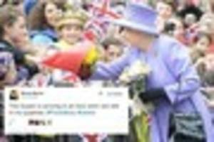 queen visits dorset: twitter reacts to monarch's unveiling of...