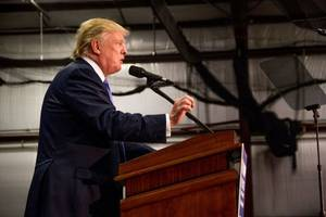 The Latest: Trump won't commit to working with Clinton