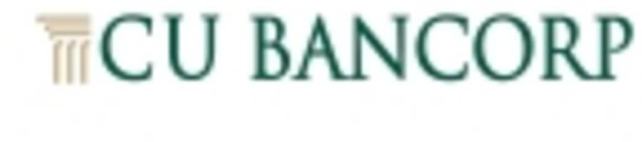 CU Bancorp Reports Third Quarter Earnings of $6.3 Million