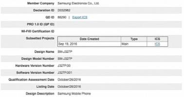 Samsung Galaxy J3 (2017) Sprint Variant Receives Bluetooth Certification