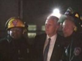 Vice presidential candidate Mike Pence's campaign plane slides off the runway at LaGuardia Airport