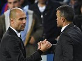 barcelona manager luis enrique defends former teammate pep guardiola: 'he's going to win'