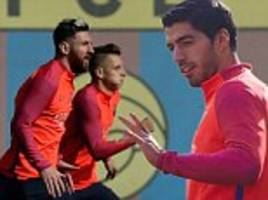 lionel messi, luis suarez and co prepare for granada clash as barcelona look to chase down pace-setters real madrid