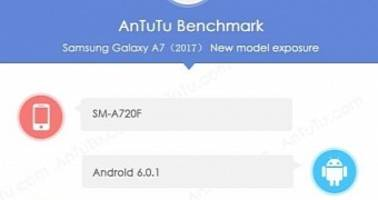 Samsung Galaxy A7 (2017) With 3GB of RAM Spotted on AnTuTu