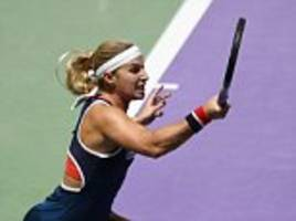 dominika cibulkova insists 'my dreams have come true' after setting up a showdown clash with world no 1 angelique kerber at wta finals