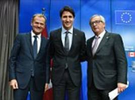 eu finally signs free trade deal with canada after seven years of talks