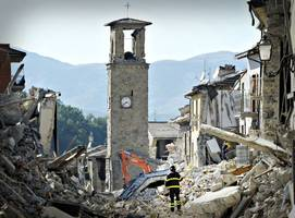 italy, earthquake cracks open a lifetime gone by