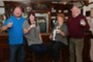 pub landlord and customers go dry for a month