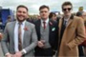 watch: men get suited and booted for gentleman's day at uttoxeter...