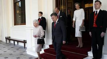colombian president santos welcomed to stormont
