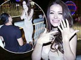 ex on the beach's jess impiazzi gets engaged after denny solomona pops the question