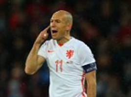 arjen robben back in holland squad after dutch agree he won't play against belguim