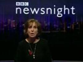 newsnight presenter kirsty wark signs off by saying she's going to play the national anthem ... but shows 'god save the queen' by the sex pistols instead