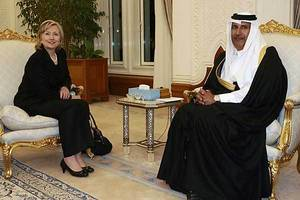 hillary accepted qatar money without notifying government, while she was head of state dept