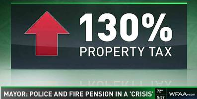 dallas pension fund panic as mayor warns of 130% property tax hike to avoid collapse