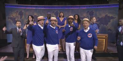 """bill murray and the chicago cubs sing """"go cubs go"""" on """"snl"""": watch"""