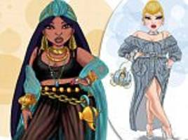 jonquel norwood draws curvy versions of disney princesses after being fat shamed herself