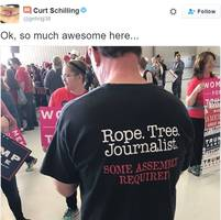 curt schilling loves this 'awesome' t-shirt calling for lynching journalists