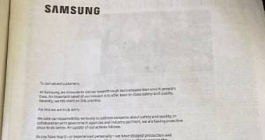 samsung runs full-page ads to apologize for galaxy note 7 recall