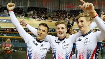 track cycling world cup: britain win team sprint gold