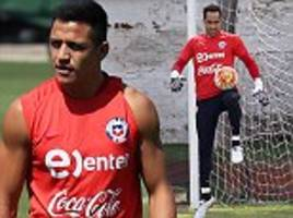 alexis sanchez returns to training for chile ahead of uruguay tie... despite arsene wenger's claims that playing the arsenal star would be 'suicidal'