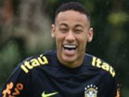 neymar and co in high spirits in brazil training as tite's men prepare for world cup qualifier against peru