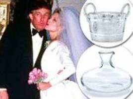 donald trump and marla maples' tiffany & co wedding registry racked up a bill of $23,000