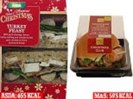 the christmas sandwiches that contain more calories than a mcdonald's big mac revealed