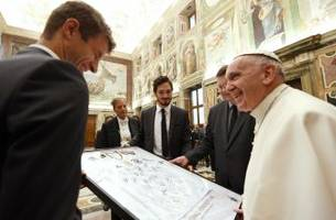 germany presents pope francis with a jersey peace offering