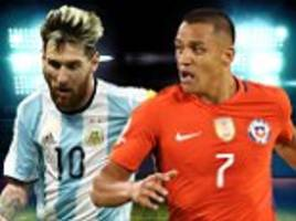 colombia vs argentina, chile vs uruguay live: lionel messi and co attempt to salvage world cup hopes as alexis sanchez starts in santiago
