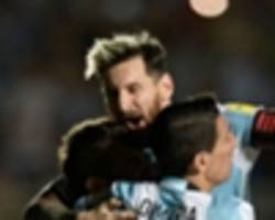 video: watch messi's incredible free-kick for argentina against colombia