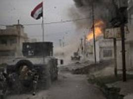 iraqi convoy runs into isis ambush during battle to free mosul