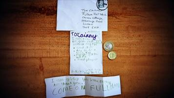 tom cairney: fulham fan sends pocket money to favourite player