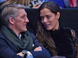 manchester united outcast bastian schweinsteiger watches atp world tour finals with wife ana ivanovic