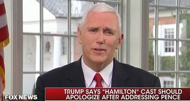 mike pence on hamilton: i wasn't offended; that's what freedom sounds like