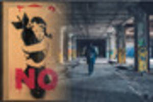 anti-war protest art by banksy to be auctioned off in penzance