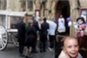 more than 100 people attend funeral of seven-year-old ebony smith